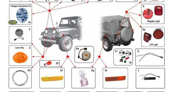 Interactive Diagram Jeep CJ Lights CJ Lights 5586