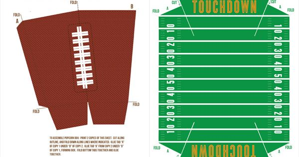 Free Football Party Printables Homemade Stadium Snack Recipes Fantasy Football Super Bowl