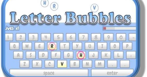 letter bubbles a fun game for typing letters before they reach the edge of the screen typingkeyboarding pinterest the ojays fun games and letters