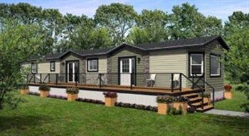 Deluxe Mobile Homes Thomas Homes Rv Center 1997 Inc Manufactured Home Recreation Mobile Home Exteriors House With Porch Manufactured Home