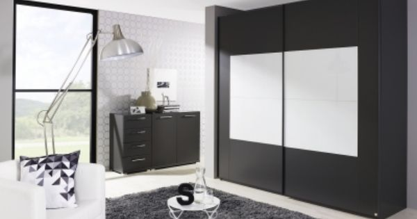 Rauch Xtend Sliding Wardrobe With Frame Graphite And Alpine