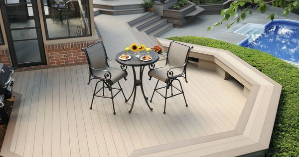 Azek Harvest Collection Decking In Brownstone With Sedona