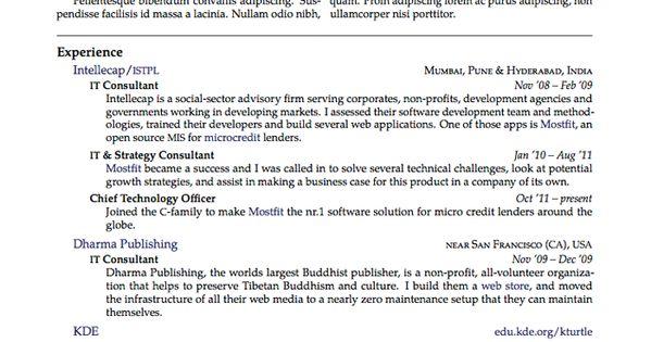 Cies Resume/CV LaTeX Template