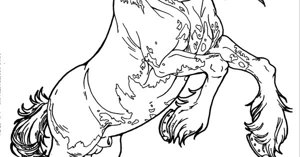Clydesdale horse coloring pages ~ Patterned Clydesdale by AppleHunter.deviantart.com on ...