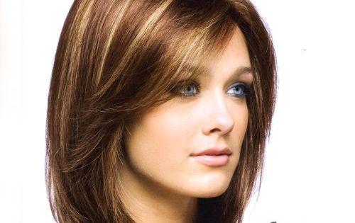 Coiffure mi long visage allonge hair style pinterest - Coiffure visage allonge ...