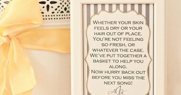 Pamper Wedding Guests with a DIY Bathroom Essentials ...