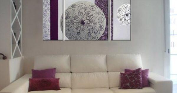 Cuadro para salon bello decoracion pinterest cuadros - Cuadros en salones ...