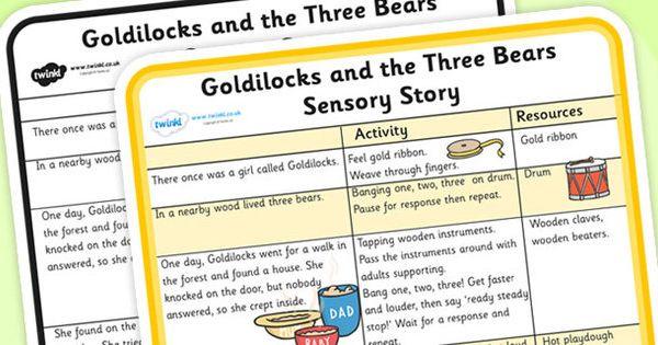 Goldilocks and the Three Bears Sensory Story   Goldilocks ...
