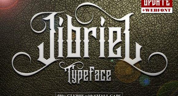 Jibriel Typeface + 580 + GLYPHs