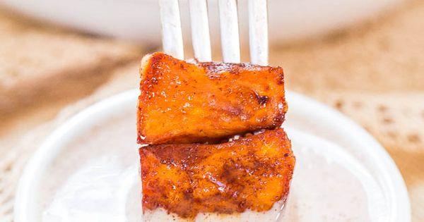 Honey-Roasted Sweet Potatoes with Honey-Cinnamon Dip | Potatoes, Dips ...