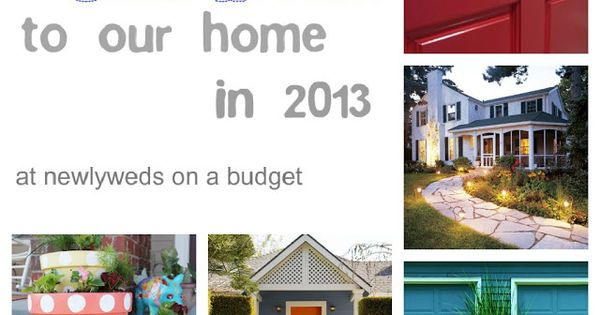 Plans for 2013-Updating Curb Appeal...good ideas and a good goal!