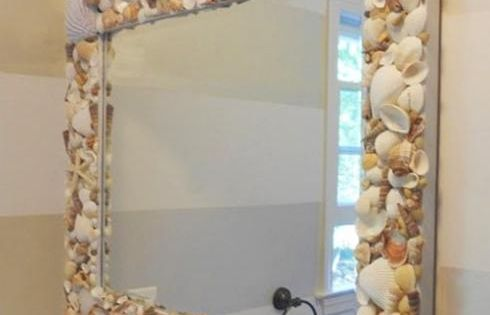 33 Modern Bathroom Design and Decorating Ideas Incorporating Sea Shell Art and