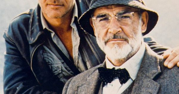 Indiana and Henry Jones (Harrison Ford Sean Connery) .. The Jones men!