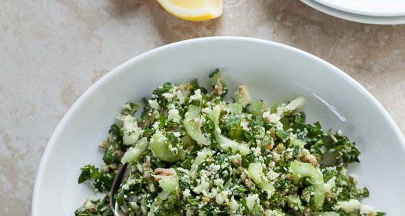 Cauliflower Tabbouleh with Green Olives (Grain-Free, Vegan, Paleo ...