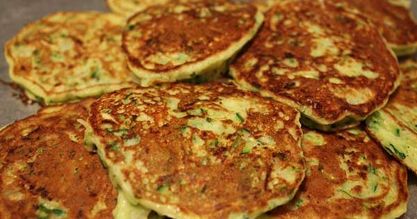 Zucchini Pancakes --- Similar to potato pancakes, with less carbs and a