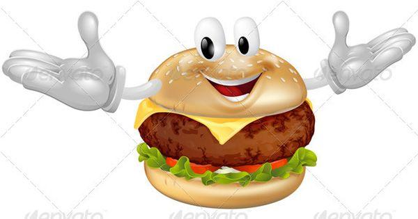 Burger Mascot Man | Bbq beef, Cheddar and Cartoon