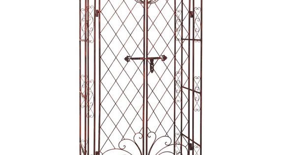 metall rosenbogen mit tor spalier rankgitter gartent r. Black Bedroom Furniture Sets. Home Design Ideas