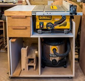 Mobile Tablesaw Stand For Dewalt Dw745 Part 1 Of 2 Workshop Re Model Episode 2 Rag N Bone Brown Diy Table Saw Table Saw Workbench Table Saw