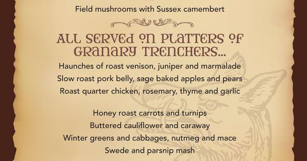 medieval menus google search medieval feast