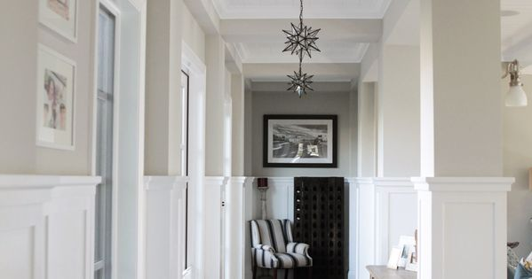 Neutral hallway with black and white accents || Style Me Pretty Living