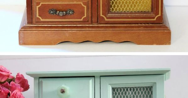 Upcycled old jewelry box for women the doors and for Old jewelry box makeover