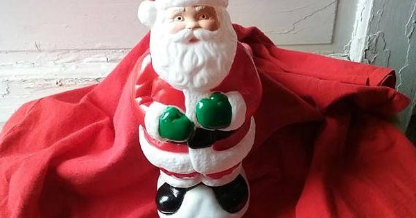 Vintage Christmas Santa Claus General Foam Blow Mold Light Cover Vintage Christmas Santa Claus Christmas In July