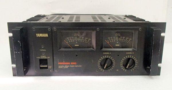 yamaha p 2200 professional series stereo power amplifier vintage pa amp dj audiophile. Black Bedroom Furniture Sets. Home Design Ideas