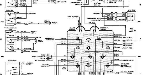 89 jeep wrangler wiring diagram  | 600 x 315