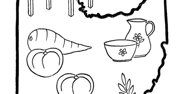 Ohio State Outline Coloring Page Myrtle Beach