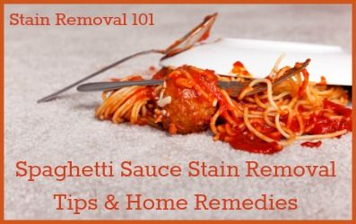 Spaghetti Sauce Stain Removal Tips Home Remes