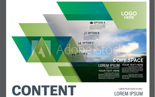 Presentation Layout Design Template Annual Report Cover Page Landscape Nature Background Illustrati Presentation Layout Design Template Annual Report Covers