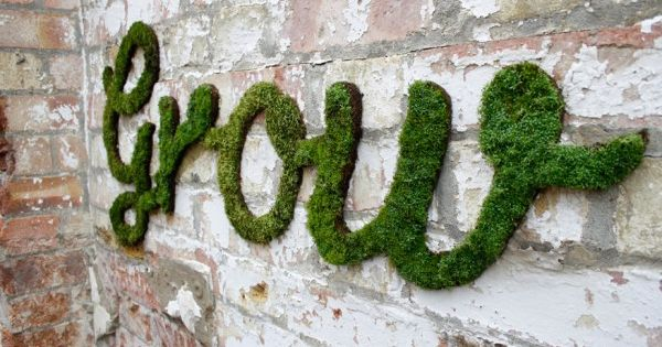 Awesome Moss Graffiti | Cool DIY Outdoor Wall Art by DIY Ready