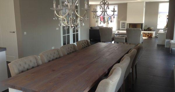landelijke eetkamer tafel gemaakt door xxltafel op maat. Black Bedroom Furniture Sets. Home Design Ideas
