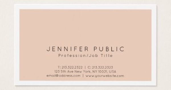 Professional Modern Sophisticated Simple Plain Business Card