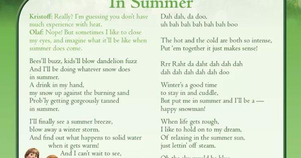 Let It Go Lyrics from Frozen | Oh My Disney
