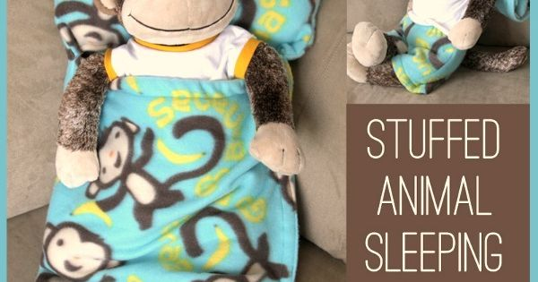 too cute! free pattern and sewing tutorial for a stuffed animal sleeping