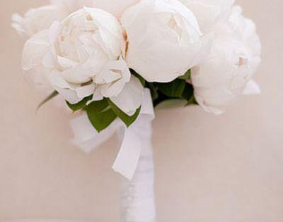 White peony bouquet!