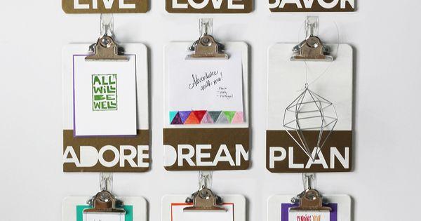 ... Create An Inspiration Wall - Slaapkamers, Inspiratie muur en Haken