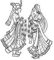 Pin By Sln Printars On Hindu Weddings Wedding Symbols Wedding Drawing Cartoon Clip Art