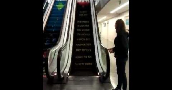 Star Wars Escalator Finds Your Lack Of Faith In Stairs