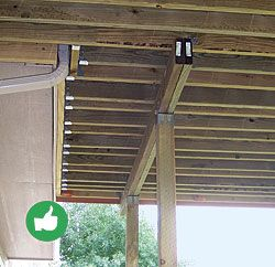 If sistering deck joists to floor joists isn't an option