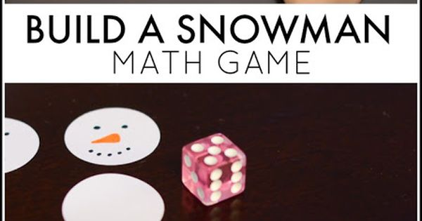 Build a snowman, Games for kids and Math games on Pinterest