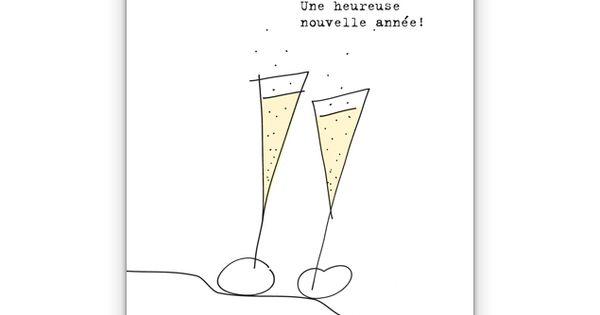französisch Silvesterkarte: Une heureuse nouvelle année! - http ...