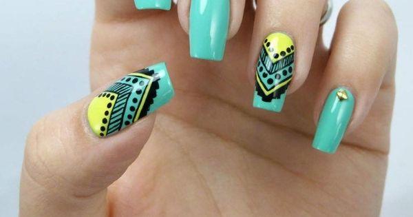 Nail art motif aztèque: 70 inspirations cool pour vos ongles!  Nail ...