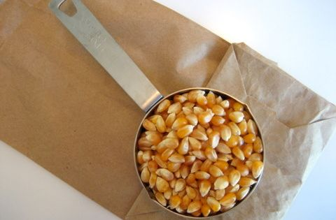 how to make Microwave Popcorn in a Brown Paper Bag - the