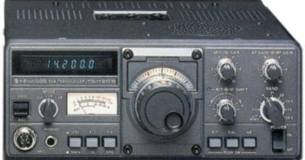 Kenwood Ts 120s Kenwood Ts 120 Transceiver Ts120 Ham Radio Ham Radio Antenna Hf Radio