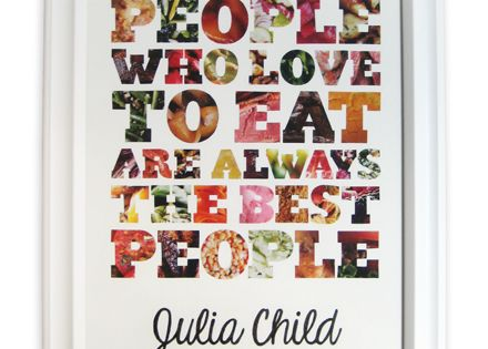 Use Food Magazine Pages to create Food Quote Art