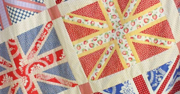 Pieced Union Jack quilt top from Diary of a Quilter -- Would