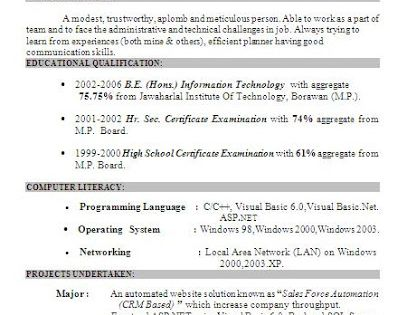 best resume models free download Sample Template Example of