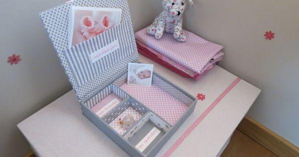 boite de naissance fille personnalisable pour ranger tous les premiers souvenirs de votre b b. Black Bedroom Furniture Sets. Home Design Ideas